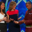 Joanna Kennedy teaches Nick Cannon how to Kiss on America's Got Talent 2015