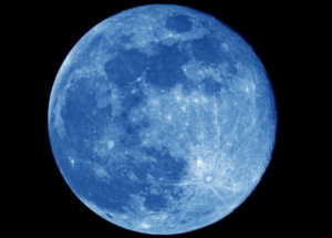 Blue Moon to Grace Friday Night Sky