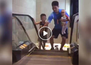 Netizens shows phobia after escalator accident in China
