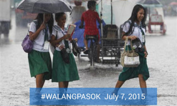 Class Suspension for July 7 due to Tropical Storm Egay