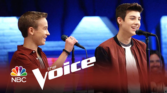 Justin Johnes vs Tanner Linford – You And I – The Voice 2014 Battle Rounds