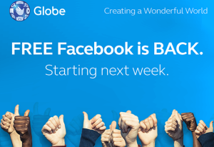 Globe Offers Unlimited Free Facebook to its Subscribers
