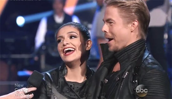 Dancing With The Stars Results, Bethany Mota and Derek Hough Eliminated