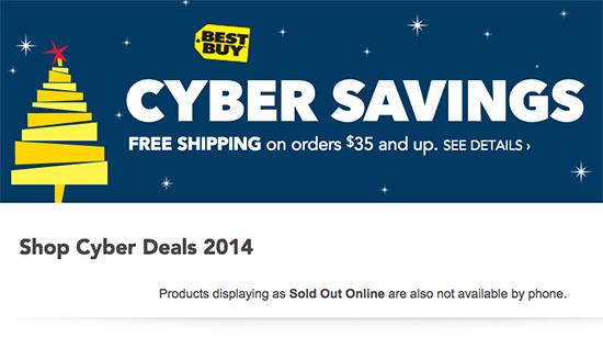 Cyber Monday Deals 2014: Best Buy HDTV, DSLR, Tablet, Laptop and Smartphone