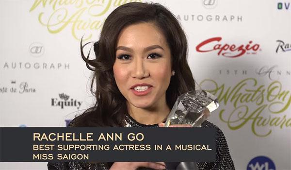 Rachelle Ann Go Wins Best Supporting Actress for Miss Saigon Role