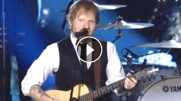 Ed Sheeran 'Thinking Out Loud' LIVE Performance at 2015 Grammys