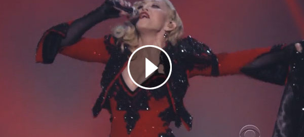 madonna grammy performance video