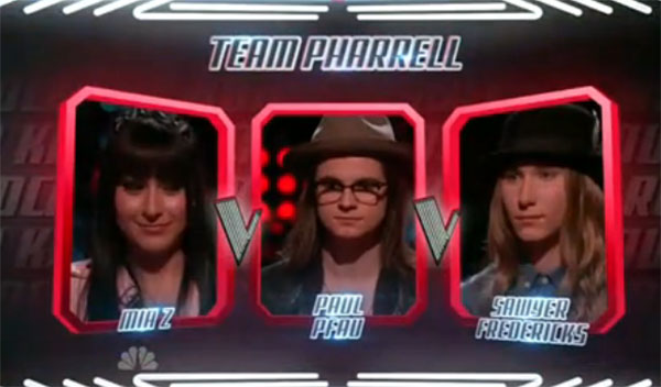 Sawyer Fredericks vs Mia Z vs Paul Pfau The Voice Season 8 Knockout Rounds Video
