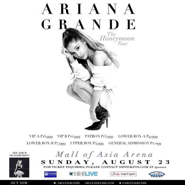 Ariana Grande Manila Concert Ticket Prices Shock Fans