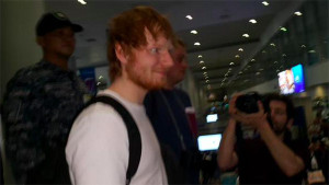 Ed Sheeran Arrived in Manila for Concert