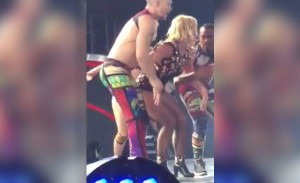 Britney Spears Sprains Ankle After Stage Mishap