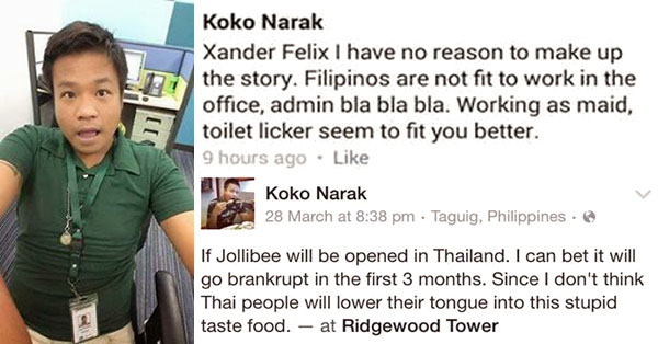 Koko-Narak-Insults-Filipinos-fired-deported