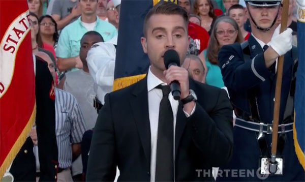 American Idol Winner Nick Fradiani Sings National Anthem at Memorial Day Concert – Video