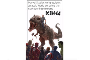 Marvel Congratulates 'Jurassic World' For Beating 'Avengers' in Top Grossing Film
