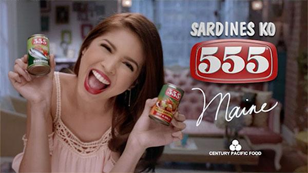 Maine Mendoza for 555 Sardines tvc video