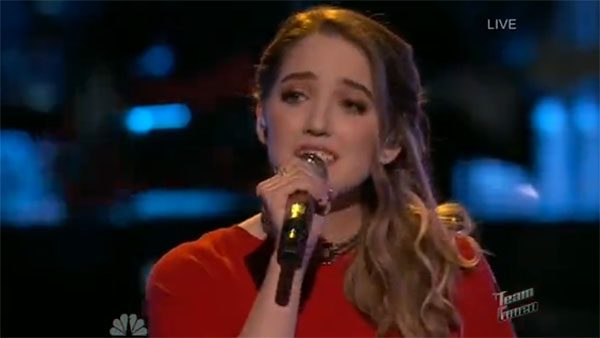 Korin Bukowski the Voice Live playoffs