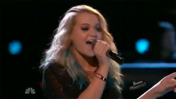 Riley Biederer The Voice Live playoffs