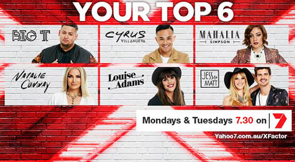 X Factor Australia Top 6