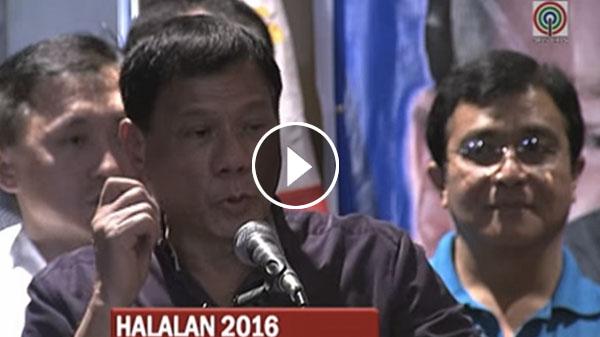 Duterte for cursing Pope Francis