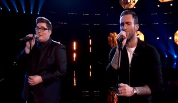 jordan smith and adam levine