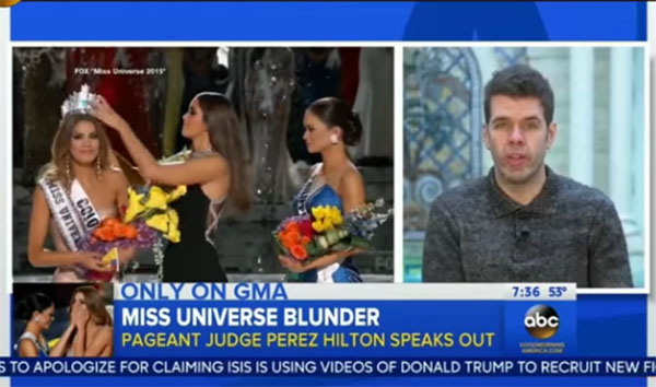 Perez Hilton Miss Universe 2015