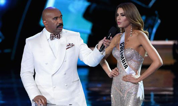Miss Colombia Ariadna Gutierrez Steve Harvey Interview