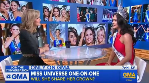 Miss Universe 2015 Pia Wurtzbach Good Morning America Interview Video