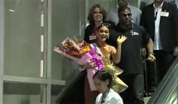 Miss Universe Pia Wurtzbach arrives in Manila Video