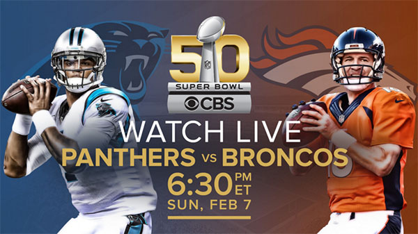 Super Bowl 50 Panthers vs Broncos watch live video