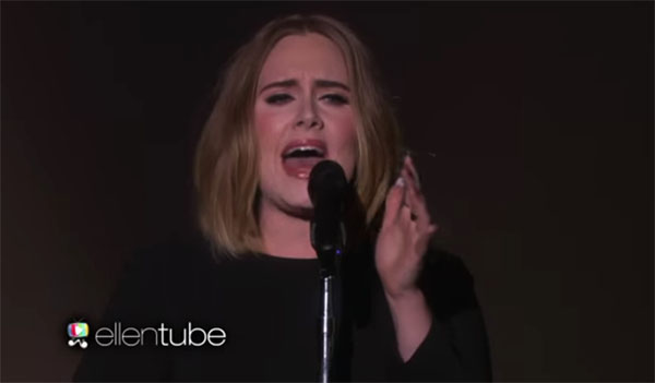 adele all i ask elllen performance video