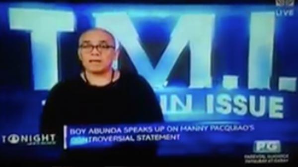 boy abunda vs manny video
