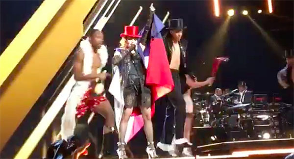 madonna wear philippine flag video