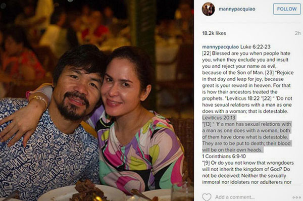 manny-pacquiao-gay-instagram-death-to-gays