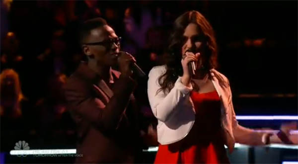 Abby Celso and Brian Nhira The Voice