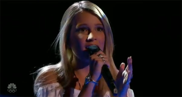 Caroline Burns the Voice 10