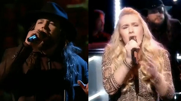 The Voice Knockouts Adam Wakefield vs Peyton Parker