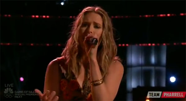 Hannah Huston the Voice live Playoffs