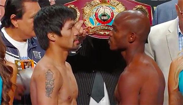Pacquiao vs. Bradley 3 weigh-in replay video