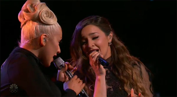 Alisan Porter Christina Aguilera the voice finale