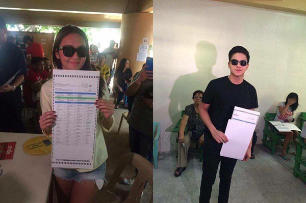 daniel padilla kathryn bernardo selfie photo election