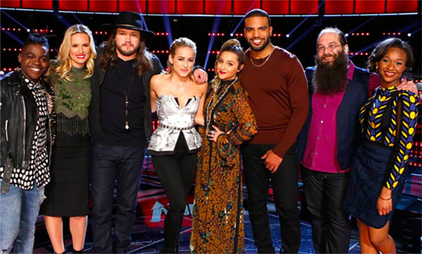 the voice results tonight top 8 elimination results