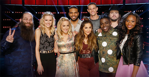 the voice results tonight top 9 elimination