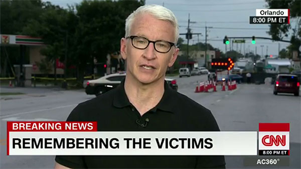 Anderson Cooper Orlando Shooting Tribute