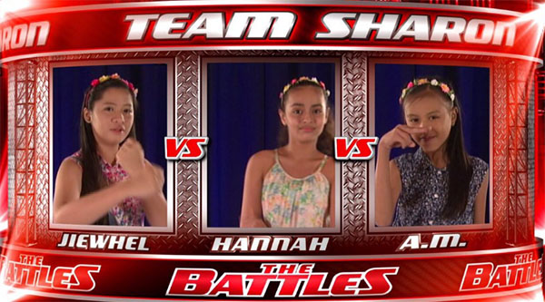Jiewhel vs Hannah vs AM the voice kids ph