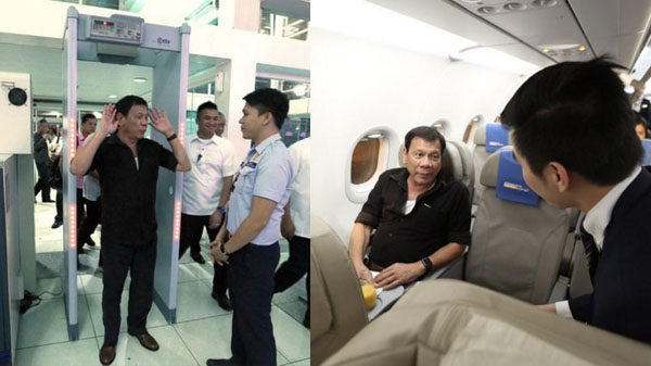 President Duterde takes commercial flight to Davao economy class video
