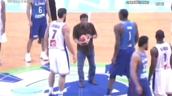 President Duterte ceremonial toss FIBA