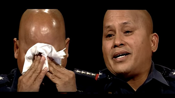 Ronald Bato Dela Rosa cries on The Bottom Line video