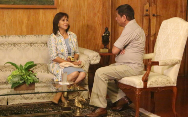 VP Leni pays a courtesy visit to Pres duterte