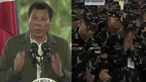 duterte increase salary police soldier video