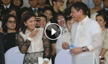 Watch: President Rodrigo Duterte meet VP Leni Robredo for the first time